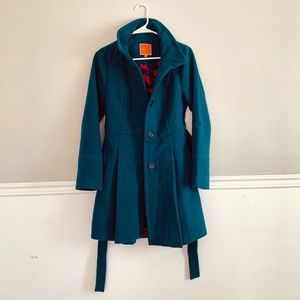NWOT Teal Pea Coat